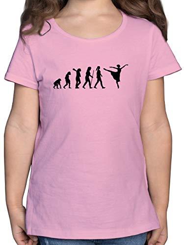 Evolution Kind - Ballett Evolution Arabesque - 140 (9/11 Jahre) - Rosa - Mann - F131K - Mädchen Kinder T-Shirt