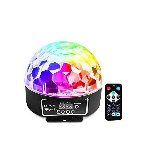 SYXX Disco-Kugel-Licht, Spherical Licht Bankett Licht Rotating Licht drahtlose Telefonverbindung, 6 Farbe LED-Kristall Magic Ball, mit Bluetooth-MP3-Player Fern KTV Startseite Wedding Show Bühnenbeleu