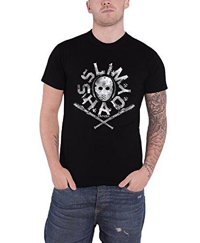 Eminem Slim Shady Mask offiziell Herren Nue Schwarz T Shirt
