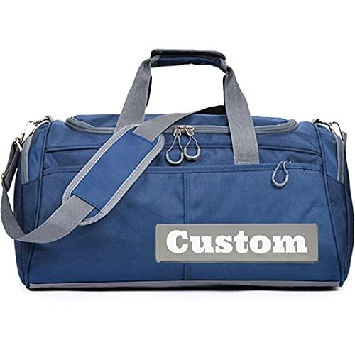 FireH Personalizado Nombre Personalizado Gimnasio Tote Grande Viajes Duffel Bag Backpack Duffel Gym Tote Compartimiento de Zapatos (Color : Shenlanse, Size : One Size)