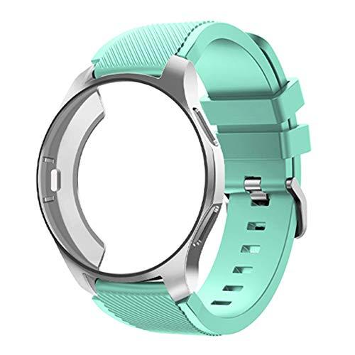 Caso de silicona + banda para Samsung Galaxy Watch 46mm / 42mm Correa Strap Gear S3 Frontier Band Sports Wamkband + Protector Watch Case 10688