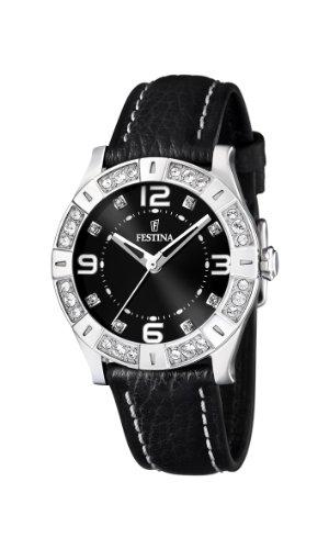Festina Damen Analog Quarz Uhr mit Leder Armband F16537/2