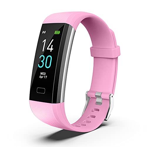 Fitness Pulsera de Actividad Reloj Inteligente Impermeable IP68 con Pantalla Color, Pulsera...
