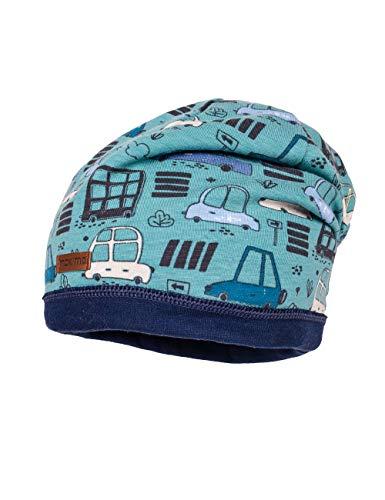 maximo Jungen aus bedrucktem Jersey mit Automotiven Mütze, Blau (Nautic-Blau-Autos 71), (Herstellergröße: 51)