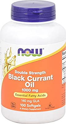 Now Foods Double Strength Black Currant Oil, 1000mg, 100 Softgels