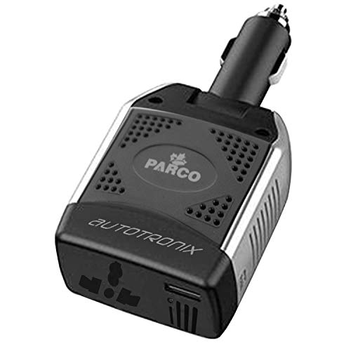 Parco 75W Car Power Inverter DC 12V to 220V AC Car Converter, Universal AC Socket and USB Car Charger