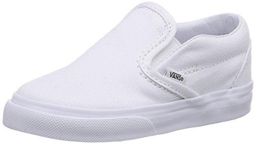 Vans Kids Classic Slip-On True White Skate Shoe 4