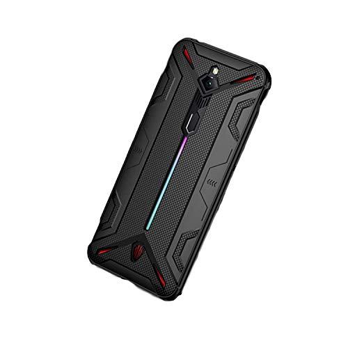 LICHIFIT Carcasa protectora de TPU a prueba de golpes para Nubia Red Magic 3 3s disipación de calor cubierta protectora de piel con ranura para Gamepad
