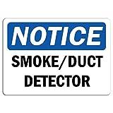 Notice Smoke Duct Detector Carteles de Chapa Póster de Pared Hojalata Vintage Hierro Pintura Retro Metal Placa Arte Decoración para Hogar Bar Club Café