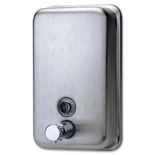 Genuine Joe GJO02201 Dispensador de jabón manual de acero inoxidable, capacidad de 931.57 ml