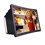 Fastyle F2 Enlarger 3D Screen Magnifier- HD Projector for Videos and Movies - with Foldable Holder Compatible with All Smartphone