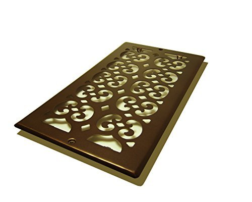 Decor Grates SP612R-RB Scroll Plated Return, 6-Inch by 12-Inch, Rubbed Bronze by Decor Grates