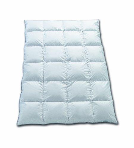 Hermetic symphonie couette d'hiver de 135 x 200 cm - 4 x 6 chambres et blanche 1A masurischer 900 g nOUVEAU 100 % duvet d'oie et duvet classe 1, 100 % coton, blanc, 135 x 200 cm