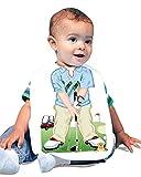 Just Add A Kid 418 Golf Action Baby Oversize Bib 0-18 Months White