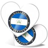 Impresionante pegatinas de corazón de 7,5 cm – Impresionante diseño de bandera de Nicaragua para portátiles, tabletas, equipaje, libros de chatarras, neveras, regalo genial #9238