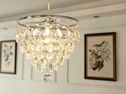 Saint Mossi Moderne K9 kristallen regendruppels kroonluchter verlichting inbouw LED plafondlamp hanglamp voor eetkamer badkamer slaapkamer woonkamer met afstandsbediening en dimbare lamp