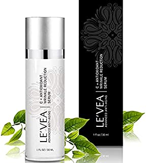 LE'VEA Concentrated Vitamin C E Serum Professional Formula for Wrinkle Reduction and Repair with Powerful Antioxidant Face...