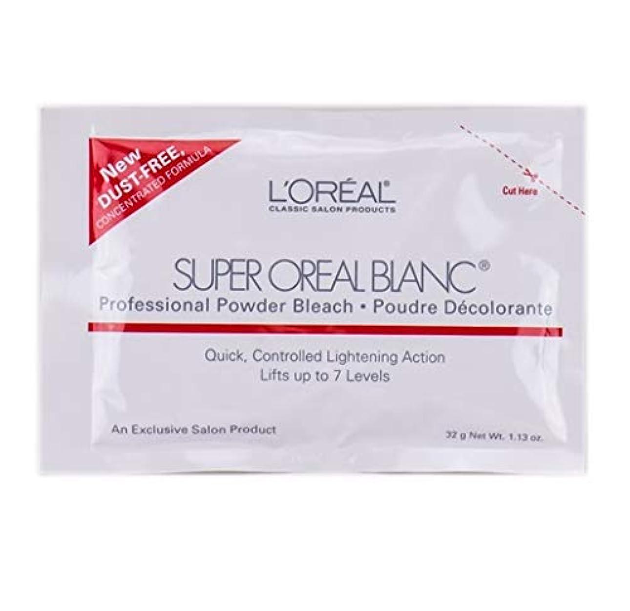 声を出して提唱する柔和L'Oreal Super Oreal Blanc - Powder Bleach Packette - 1.13oz / 32g