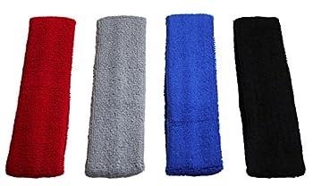 Zensufu 4 pcs Sports Basketball Headband/Sweatband