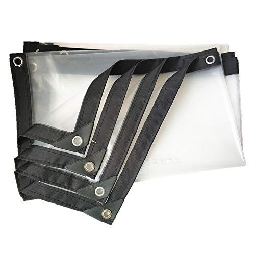 SCAHUN Lona Alquitranada Protección Lona De Protección Transparente Impermeable Paño De Plástico Cobertizo De Flores Protección contra El Frío Mantenga La Película De Invernadero Caliente,White-2×4m