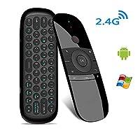 Drahtlose Mini-Tastatur, Android TV Box-Fernbedienung und Mini-PC-Steuerung. Multifunktionale, innovative Form, tragbar und stilvoll. Mit einigen universellen Funktionstasten. Perfekt für Nvidia Rhield, Android TV Box und Raspberry Pi 3 B + und HTPC....