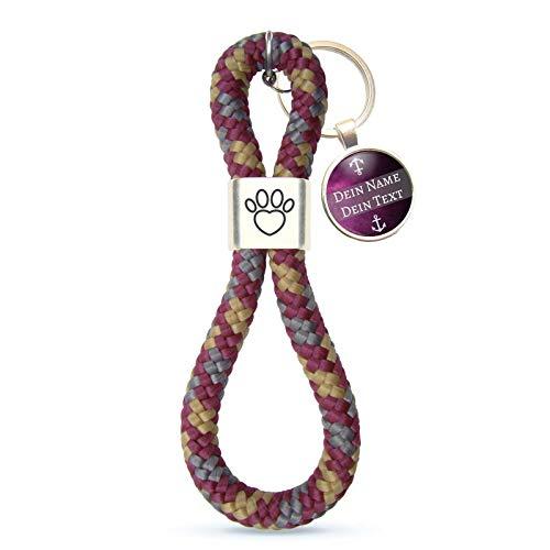 MeLifestyle Schlüsselanhänger aus Segelseil Ocean Violetta