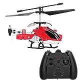 Conjunto de modelo de helicóptero RC, 2.4G 4 canales Helicóptero RC Control de altitud eléctrico Helicóptero RC incorporado Gyroscop Modelo de avión de juguete para niños mayores de 14 años(rojo)