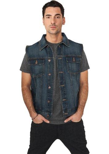 "Urban Classics Jeansweste \""Denim Vest\"" Denimblue XL"