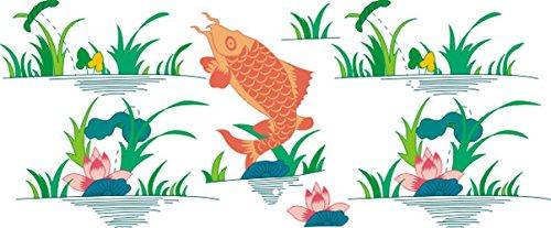 Indigos UG 4051719903171 muurtattoo meerkleurig MD050 vissen rood vliegen 120 x 49 cm