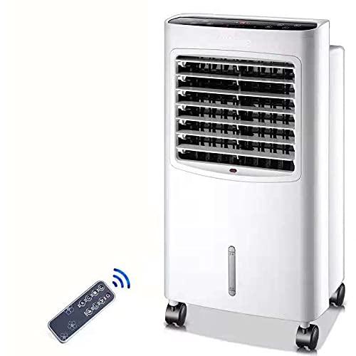 XPfj Doppio Caldo/Freddo Portatile Climatizzatore, Umidificatore Purificante per L'Ambiente Bassa Rumorosità Senza Tubo 8 Litri Acqua Portata d'Aria 400 M³/h Refrigeratore Bianco