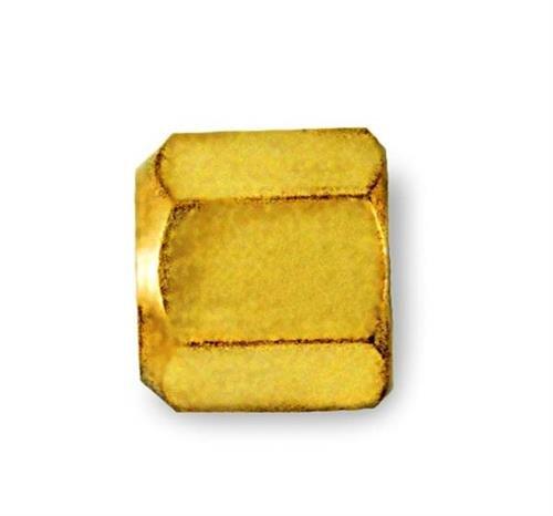 C&D Valve CD2235 1/4 Flare Cap, Brass hex w/Neoprene o-Ring Seal (Pack of 25)