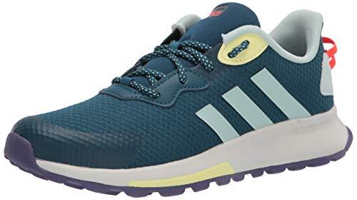 adidas Women's Quesa Trail X Running Shoe, Tech Mineral/Green Tint/Yellow Tint, 5 M US