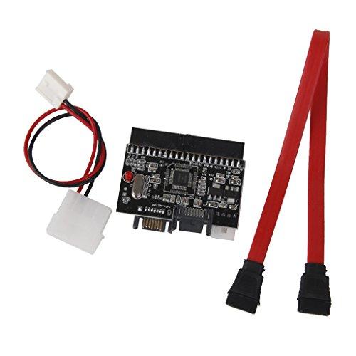 PETSOLA Adaptador SATA IDE, Tarjeta de Conversión de 2 Vías, Serial ATA a Parallel ATA, HDD