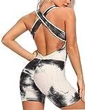 FITTOO Mono Pantalones Cortos Leggings Mujer Mallas Yoga Alta Cintura Elásticos Transpirables #1 Blanco% Negrro M