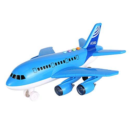 F Fityle Modelo de Avión de Juguete de 1 Pieza para con Luces, Canciones Y Sonidos Grandes