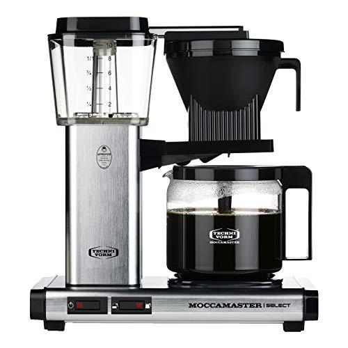 Moccamaster 53979 KBG Select Filterkaffeemaschine, Aluminium, 1.25 liters, Brushed