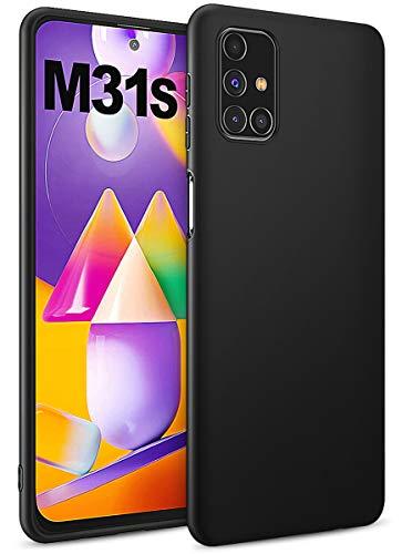 BENNALD Hülle für Samsung Galaxy M31s Hülle, Soft Schutzhülle Hülle Cover - Premium TPU Tasche Handyhülle für Samsung Galaxy M31s (Schwarz,Black)