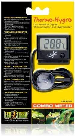 Exo Terra digitale combinatie van thermo- en hygrometer met meetsensor