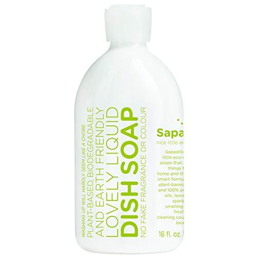 Sapadilla Rosemary + Peppermint Biodegradeable Liquid Dish Soap, 16 Ounce