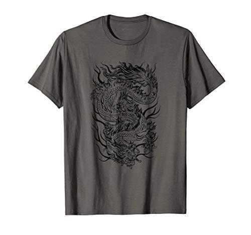 Aesthetic Chinese Dragon Chino Soft Grunge E-Girl Mujer Eboy Camiseta