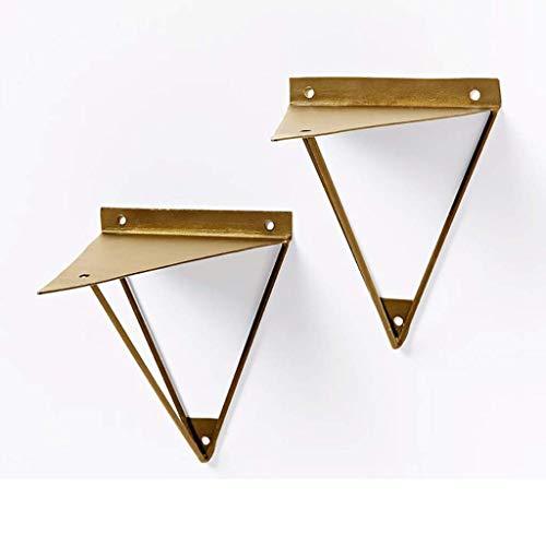 JOSN Unieke vorm tablet beugel muur steun driehoek 1 stuk beugel metaal goud