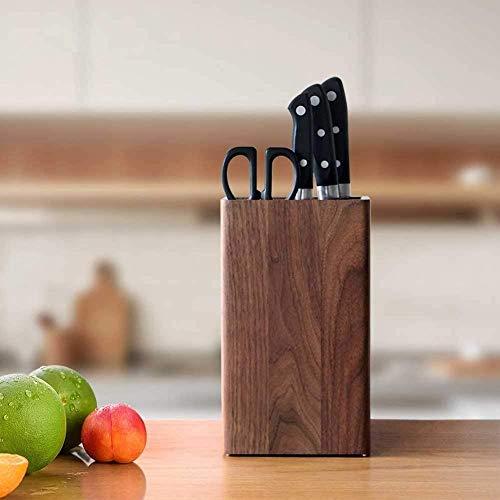 Baifantastic - Soporte universal para cuchillos (8 ranuras, nogal 145 x 250 x 120 mm)