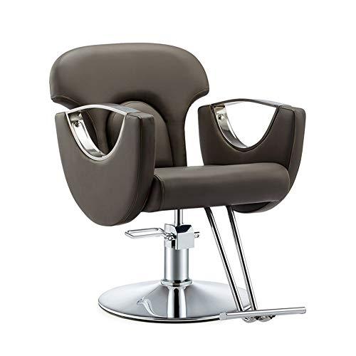 WANGXN Chaise de Coiffeur Inclinable hydraulique Beauté Coiffure Coiffure Chaise Hauteur réglable en Cuir PU