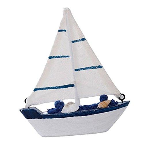 Sharplace Retro Mini Holz Segelboot Segelschiff Modell - # 4