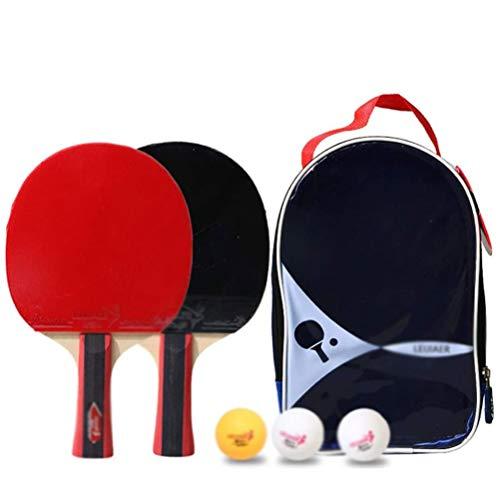 Pig Middle I Tischtennis-Paddel-Set, Tischtennis-Paddel/Schläger Enthält 2er-Pack professionelle Premium-Tischtennis-Paddel, 3 Tischtennisbälle und einen Premium-Aufbewahrungskoffer