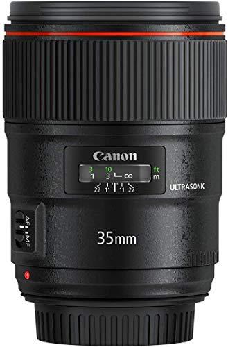 Canon EF 35mm f/1.4L USM II - Objetivo para cámara réflex Canon (Distancia Focal Fija 35mm, Apertura f/1.4-22, diámetro Filtro: 72mm) Negro