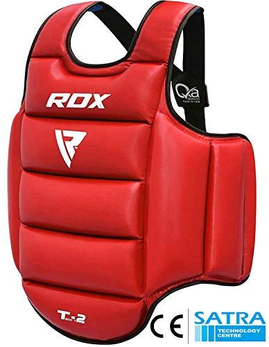 RDX TKD Körperschutz Boxen Kampfsport MMA Reversibel Körperschutzweste Kampfwesten (MEHRWEG)