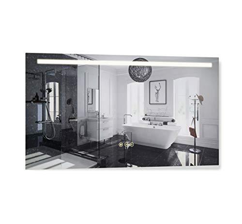 B&C 42x24 inch Super Slim Bathroom Mirror Horizontal |1 Led Strips| Polished -