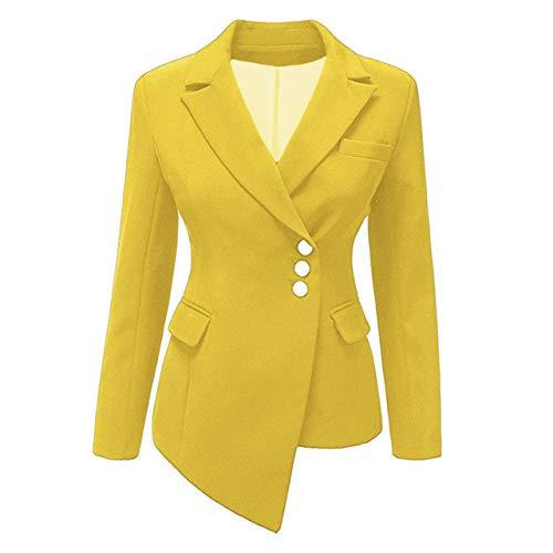 HOSD Womens Blazers Cinturón Túnica de Estilo Europeo Blazers Elegantes Office Lady Trajes Elegantes Femeninos