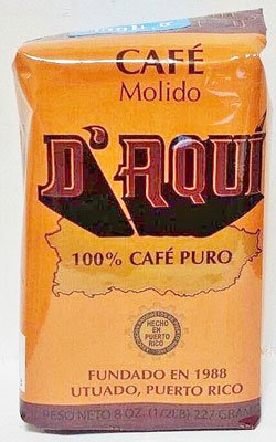 Cafe D'AQUI - Puerto Rican Ground Coffee by Torrefaccion Cafe El Coqui - 2 pounds VALUE PACK (4 - 8 0z Packs)